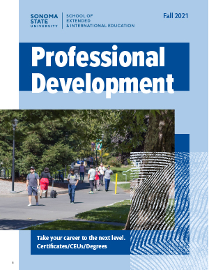Fall Professional Development Catalog front cover image