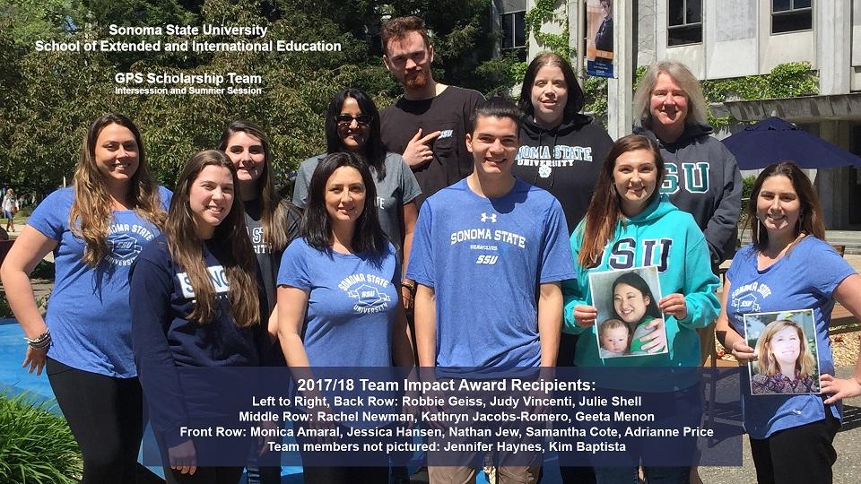 Team Impact Award Winners